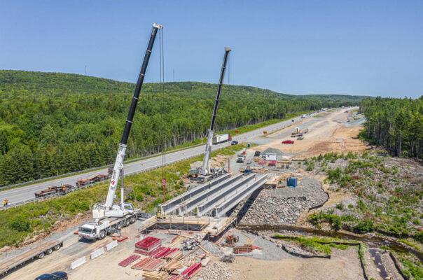 East French River girder installation