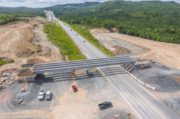 Barney's River Interchange girder installation