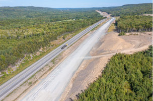 Capping New East Bound lanes east of French River Trunk 4