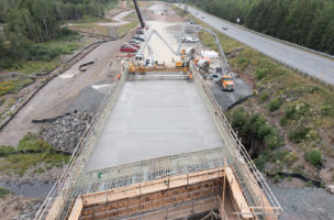 East French River EB Deck Pour
